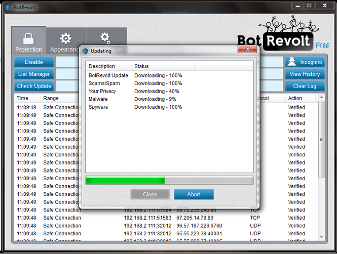 Bot Revolt Anti-Malware Free Edition Screenshot
