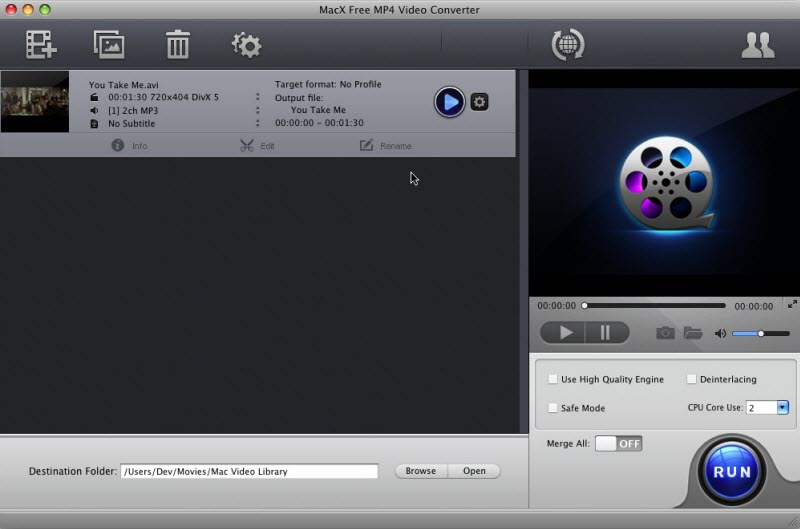 MacX Free MP4 Video Converter Screenshot 2