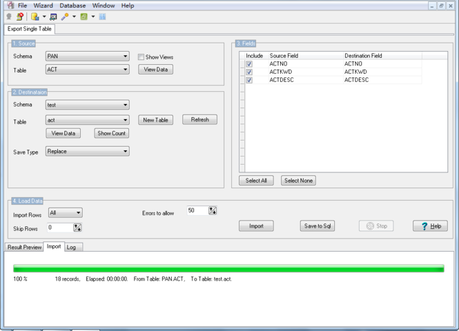 DB2ToMysql Screenshot 1