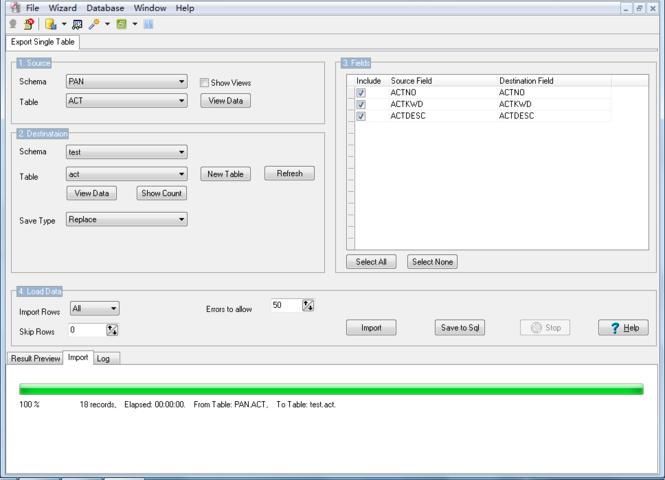MysqlToDB2 Screenshot