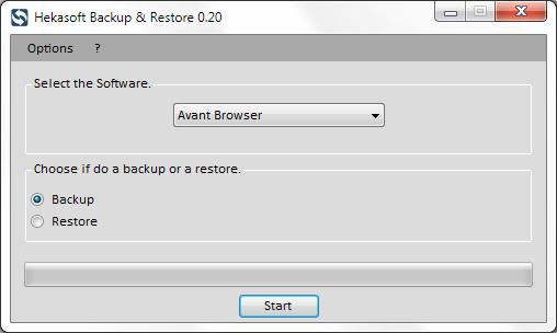 Hekasoft Backup Restore Screenshot 1