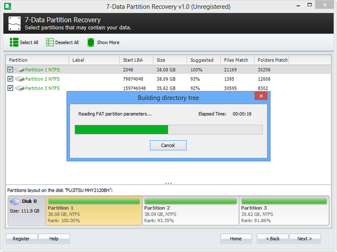 7-Data Partition Recovery Screenshot 1