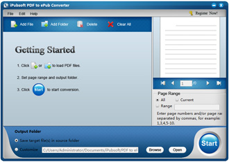 iPubsoft PDF to ePub Converter Screenshot