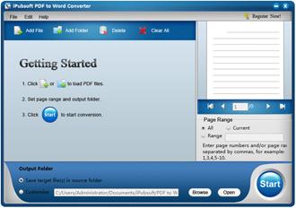 iPubsoft PDF to Word Converter Screenshot