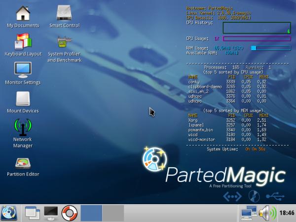 Parted Magic Screenshot 2