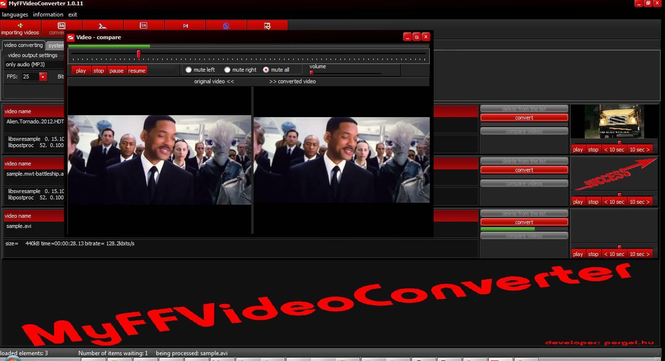 MyFFVideoconverter Screenshot 1