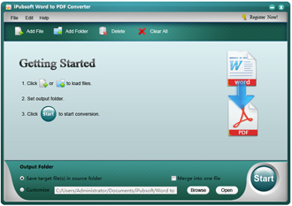 iPubsoft Word to PDF Converter Screenshot