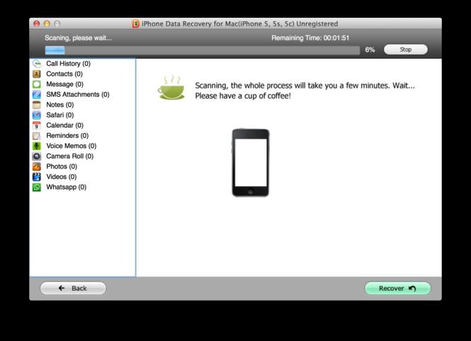 Tenorshare iPhone Data Recovery Screenshot 5