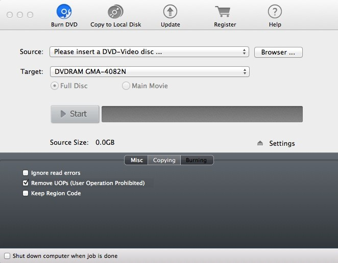 Magic DVD Copier for Mac Screenshot