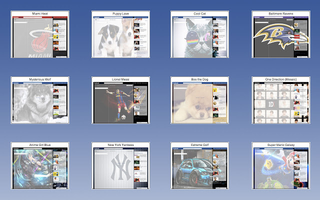 Facebook Theme Creator Screenshot
