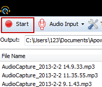 Apowersoft Free Audio Recorder Screenshot