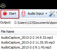 Apowersoft Free Audio Recorder Screenshot 1