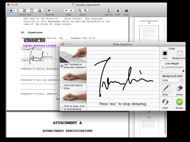 Sign PDF for Mac Screenshot