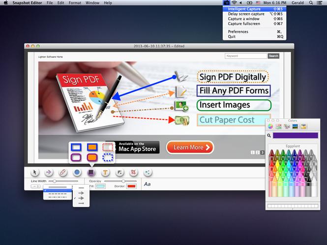 Snapshot Editor for Mac Screenshot 1