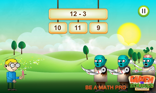 Math vs. Zombies - Cool & Fun Math Game Screenshot