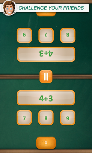 MATH DUEL - 2 Player Games: Math Game Screenshot 1