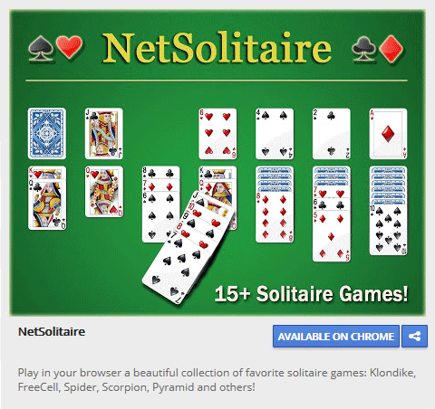 NetSolitaire: Free Online HTML5 Solitaire Screenshot