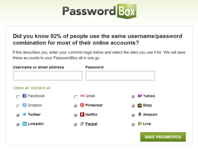 PasswordBox Screenshot 1