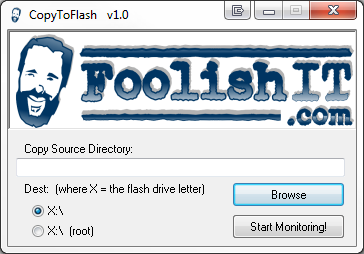 CopyToFlash Screenshot