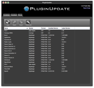 PluginUpdate Screenshot