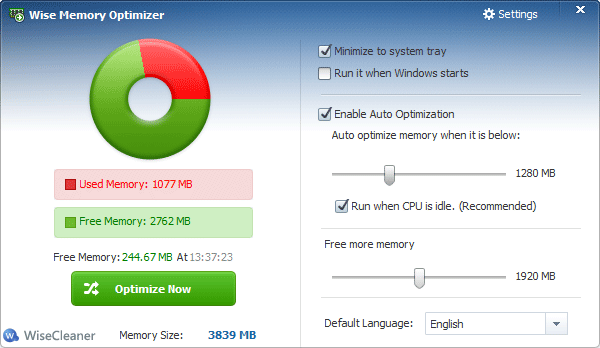 Wise Memory Optimizer Screenshot 3