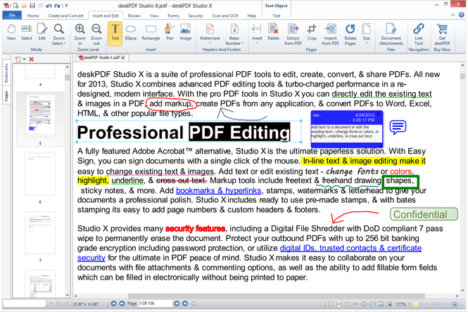 deskPDF Studio X Screenshot