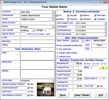 STABLE MANAGER PRO II Screenshot 2