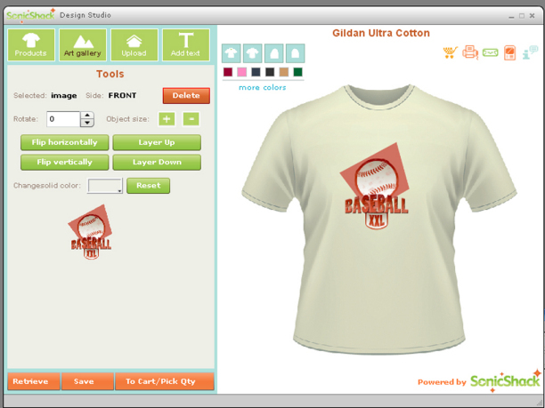 Desktop T Shirt Creator Screenshot