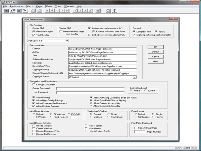 PCL to PDF - PCLTool SDK Option V Screenshot