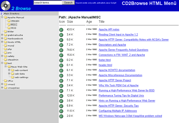 CD2Browse Screenshot 1