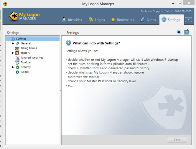 My Logon Manager Screenshot 1