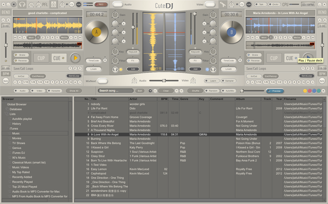 CuteDJ - DJ Software Screenshot