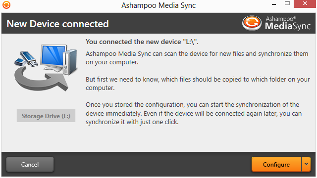 Ashampoo Media Sync Screenshot