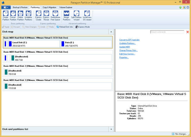 Paragon Partition Manager Professional Screenshot 10