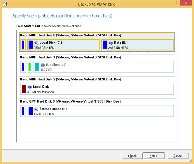 Paragon Partition Manager Professional Screenshot 4