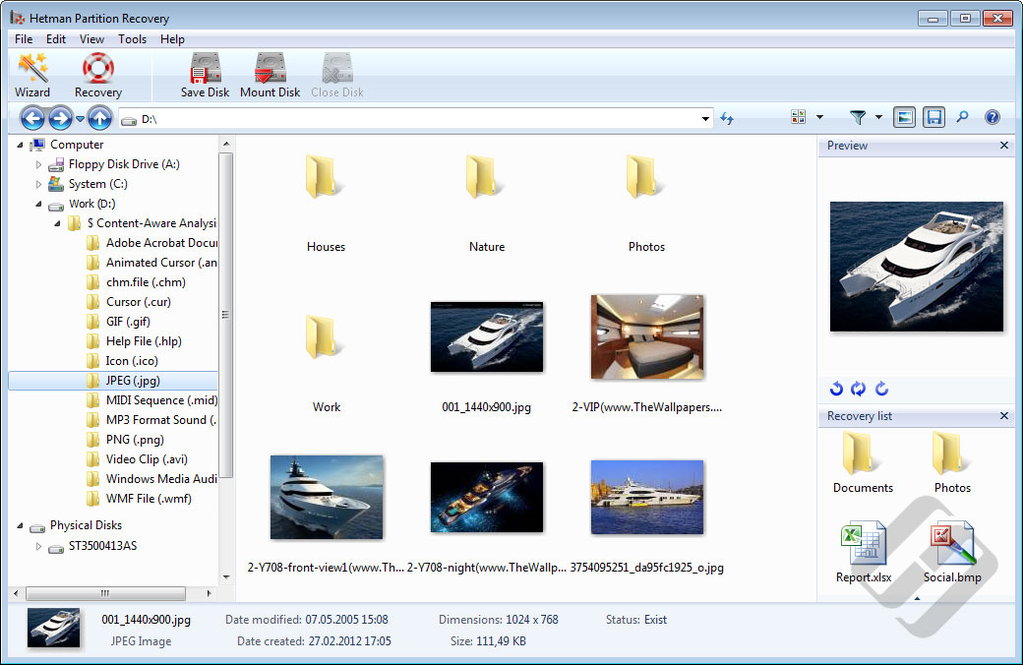 Hetman Partition Recovery Screenshot 9