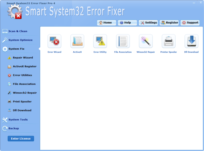 System32 Error Fixer Software Screenshot 2