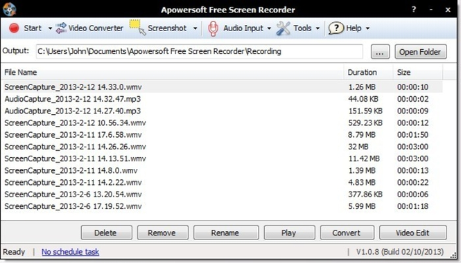 Apowersoft Free Screen Recorder Screenshot