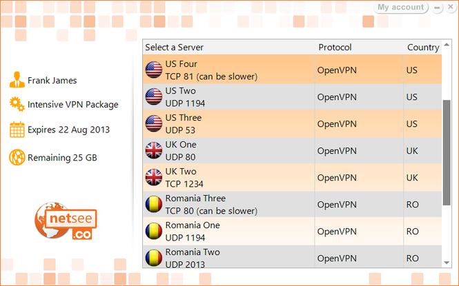 NetSee VPN Screenshot 3
