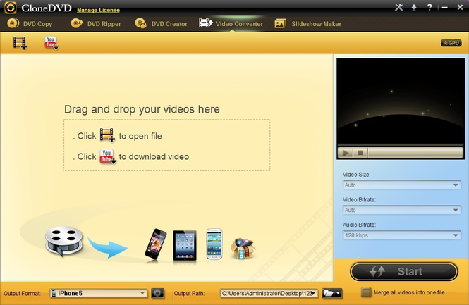 CloneDVD Studio Video Converter Screenshot