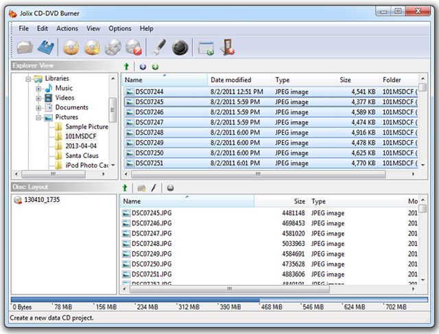 Jolix CD-DVD Burner Screenshot