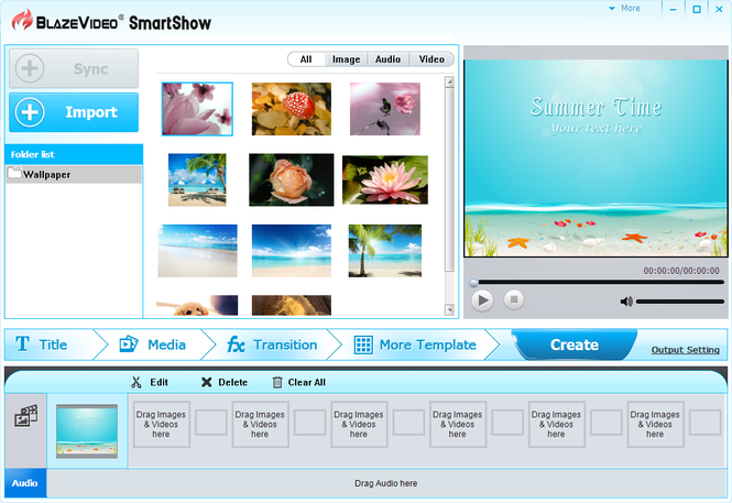 BlazeVideo SmartShow Screenshot