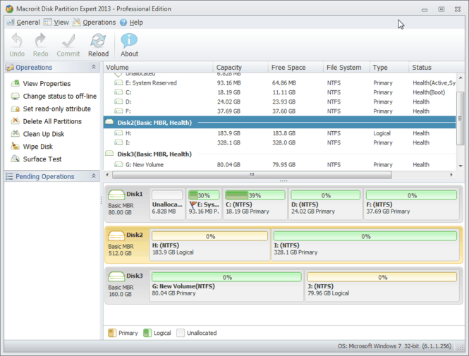 Macrorit Partition Expert Home Edition Screenshot