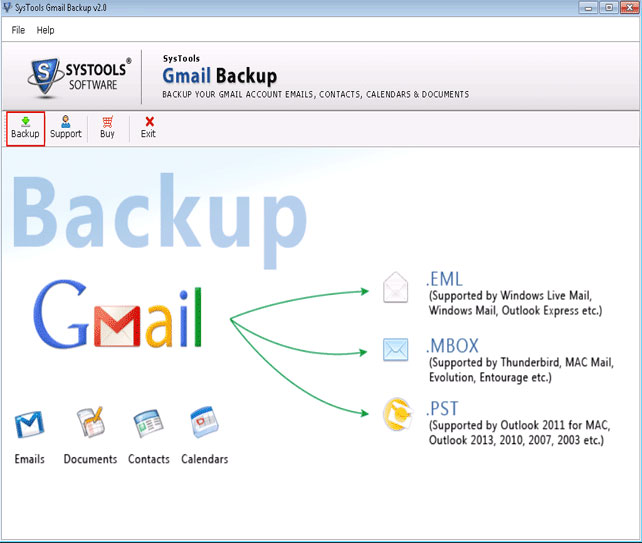 Gmail Backup Tool Screenshot 1