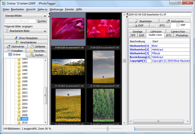 JPhotoTagger Screenshot