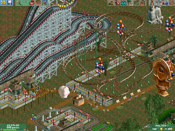 RollerCoaster Tycoon 2 - Triple Thrill Pack Screenshot 2