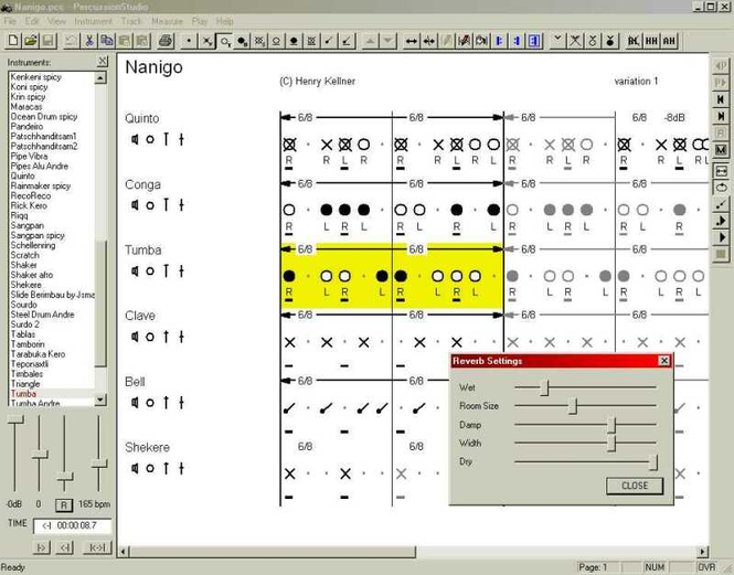 PercussionStudio Screenshot