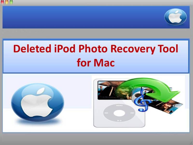 Deleted iPod Photo Recovery Tool for Mac Screenshot
