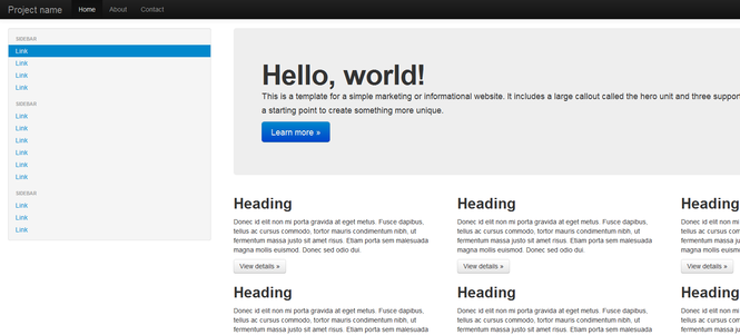 Bootstrap Screenshot 1