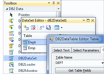 dotConnect for DB2 Screenshot